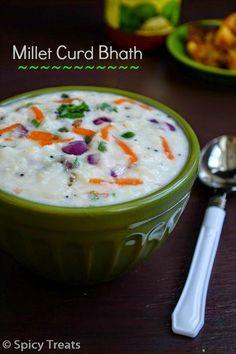 Simple & Healthy one pot meal ~ Foxtil Millet Yogurt Bhath / Thinai Arisi Sambar Sadham...