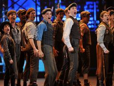 """The cast of """"Newsies"""" performs onstage at the 66th Annual Tony Awards at The Beacon Theatre on June 10, 2012, in New York."""