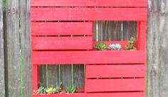 Jardinera palets roja | Handspire