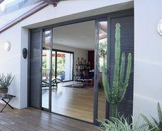 baie coulissante galandage un projet de menuiseries. Black Bedroom Furniture Sets. Home Design Ideas