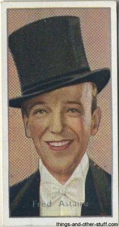 Fred Astaire 1936 Carreras Film Stars Tobacco Card #3 on Immortal Ephemera