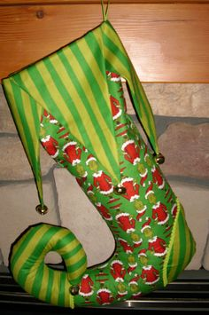How the Grinch Stole Christmas stocking from Etsy. #thegrinch #christmasstockings