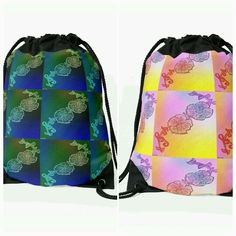 Drawstring Bags now available at Redbubble.com/people/allibeck #art #graphicdesign #fitness #gear #yoga #edm #mixedmedia #bags #festival #musicfestival #festivalseason #digitalart #hibiscus #flowers #floral #cartoons #popart #flower #cartoon #dope #rave