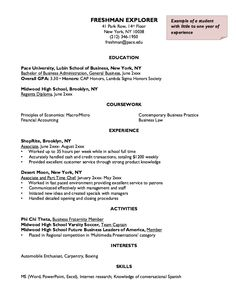 This Example Freshman Explorer Resume Sample We Will Give You A Refence  Start On Building Resume.you Can Optimized This Example Resume On Creating  Resume ...