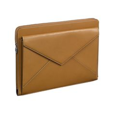 Small leather goods Collection Les Must tactile tablet holder - Tobacco-colored goatskin, palladium finish - Only $830 at Cartier! Goodness, have a cobbler make you one!