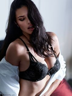 """Adriana Lima flaunts her sexy body for the new Victoria's Secret """"Scandalous"""" lingerie line!"""