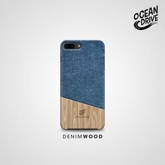 Denim Wood Pattern Print Custom Case