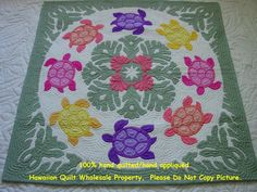 sea turtle quilts | Sea Turtles-Sea Shells-CG Sea Turtle Quilts, Hawaiian Quilts, Hand Quilting, Sea Shells, Quilt Patterns, Applique, Sea Turtles, Sewing, Projects