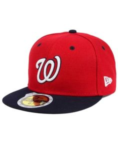 New Era Kids  Washington Nationals Authentic Collection 59FIFTY Cap -  Red Navy 6 1 2 12359bab570d