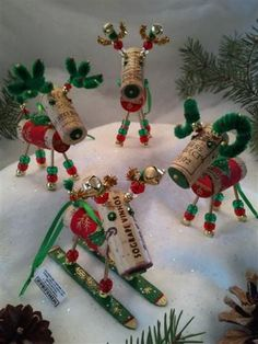 WINE CHRISTMAS ORNAMENT - Winedeer-Very Merry Moose-Bighorn Sheep-Barbera: