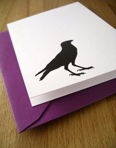 crow notes / stationery / set of 6 blank by ModernPrintedMatter, $12.00