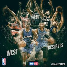Presenting the 2015 Western Conference Reserves! Basketball Leagues, Basketball Players, All Star, Western Conference, Fox Sports, San Antonio Spurs, Boston Celtics, Chicago Blackhawks, Sports Illustrated