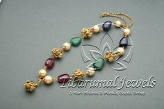 Tiraa by Tibarumal Jewels Gold Jewelry Simple, Mom Jewelry, India Jewelry, Girls Jewelry, Jewelry Ideas, Gold Jewellery Design, Bead Jewellery, Temple Jewellery, Beaded Jewelry