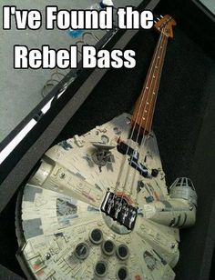 Millenium Falcon Bass Guitar ! Dunno if this should go under music or funny stuff... BOTH. LOL