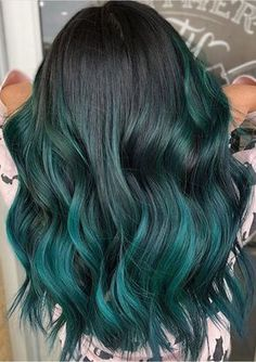 Mary cake blue teal ombre balayage by Jessica Gonzalez in ...