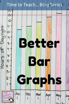 Teaching students how to make better bar graphs: start with labeling the parts of a bar graph. Discuss the steps you take in making a bar graph.  Use authentic data to practice making a bar graph on grid paper.: