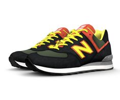 The 574 silhouette is the epitome of classic New Balance design – and you  can make ... e6d9129db