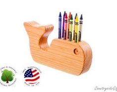 Image result for wooden crayon holder