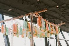 Fringe and tassel ceremony decor| Photo by Apryl Ann Photo | Read more - http://www.100layercake.com/blog/?p=74234