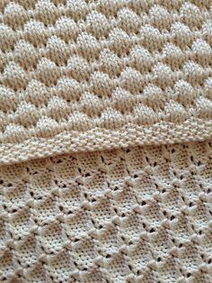 Ravelry: Dean& Blanket pattern by Tree Crispin- free knitting pattern - toca de bebe Knitting Machine Patterns, Knitting Stiches, Knitting Yarn, Free Knitting, Baby Knitting, Knit Stitches, Knitting Ideas, Knit Or Crochet, Crochet Baby