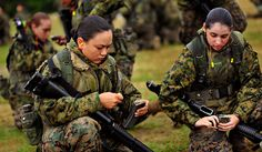 Marines Moving Female Infantry Units to the Front Line