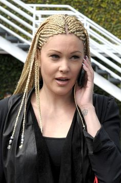 women tapered hair cuts for long hair | White Cornrows: Celebrity Cornrows Hairstyles for Long Hair
