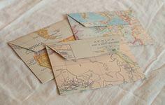 map envelopes $5.95 #stationary