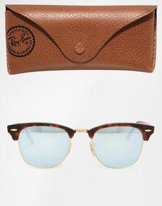 ASOS - Ray-Ban Mirror Clubmaster Sunglasses