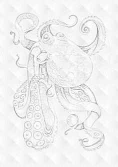 Octopus tattoo sketchg