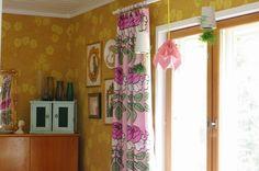 Herra Puukenkä ja Neiti Räsymatto Valance Curtains, Home Decor, Decoration Home, Room Decor, Valence Curtains, Interior Decorating