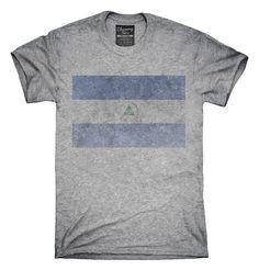 Retro Vintage Nicaragua Flag T-Shirts, Hoodies, Tank Tops