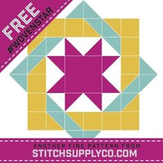 Woven Star Mini Quilt Pattern - Stitch Supply Co.  FREE