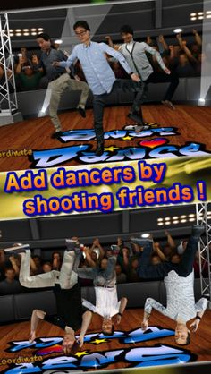 Only take pictures of someone…then, he(or she) is able to transform to awesome realistic 3D charactor!!! He(or she) will show off break dance like of professional on the stage.  You take pictures of your friends and family, then LET'S BREAKIN' with everyone!!!!! Store's URL is http://art.d2c.ne.jp/ad/p/r?_site=91&_article=1066&_link=3993&_image=4114