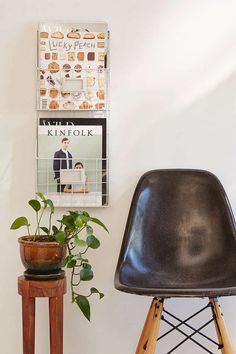 Or this two-tier wire magazine rack ($39).   34 Wonderful Products For People Who Hate Clutter