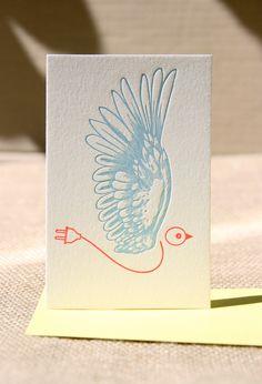 dutch design letterpress cards. Pretty