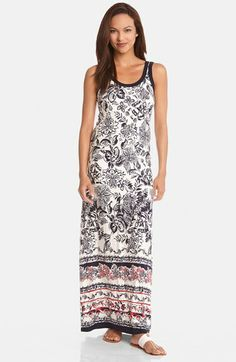 Karen Kane Border Print Tank Maxi Dress #Nordstrom #Karen_Kane #Summer_2014 #Maxi_Dress #Fashion