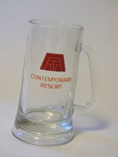 Vintage Contemporary Resort glass beer stein by GiftedEnrichment on Etsy