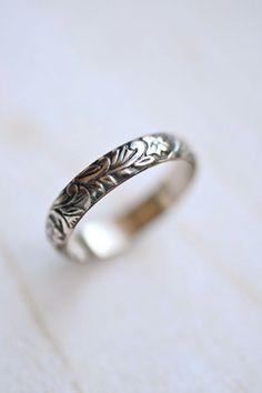 Medieval Vines Gold Ring -- Floral 14kt Gold Fill. LaraLewis on Etsy.