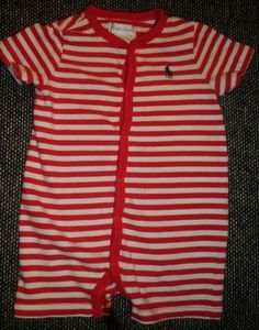 Boys' Clothing (newborn-5t) Well-Educated Polo Ralph Lauren Baby Boy Romper Sz 3 Months Us Coastal Patrol