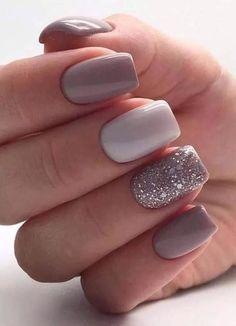 Square Nail Designs, Short Nail Designs, Acrylic Nail Designs, Nail Designs For Winter, Nail Ideas For Winter, Shellac Nail Designs, Accent Nail Designs, Nail Color Designs, Gel Nail Color Ideas
