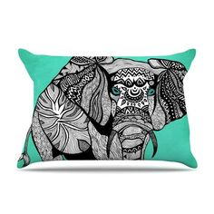 "Pom Graphic Design ""Elephant of Namibia Color"" Pillow Case - Outlet Item Fleece - KESS InHouse"