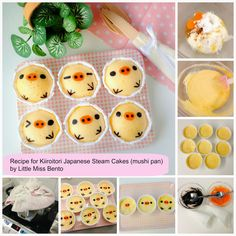 """Recipe for Kiioritori Japanese Steam Cakes (Mushi-pan) I can hear my husband now """"Why are there faces in my food?"""""""