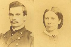 DAVID P. GRIER and ANNA MCKINNEY - a civil war couple who were madly in love.  This is a post of their great-great-great-grandaughter's.  She has his love letters he wrote during the war.  Such beautiful language, and so moving how they expressed they're love in those days.