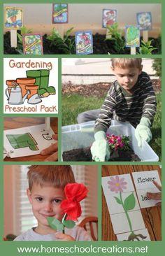 Garden unit and activities for preschool and kindergarten