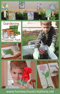 Garden unit and activities for preschool and kindergarten