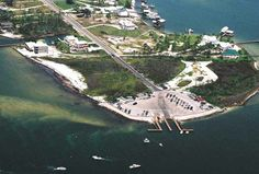 Aerial picture of the boat launch at the end of Marina road.  Click the link to visit our website and view current Orange Beach, AL homes for sale.  http://www.condoinvestment.com/orange-beach-al-subdivisions.php