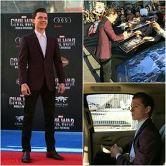 Tom Holland in the Captain America Premiere .