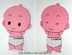 Decoración infantil personalizada y letras decorativas: SILUETAS INFANTILES: BEBÉS