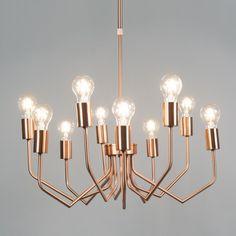 Hanglamp Ritz 10 koper - QAZQA.com