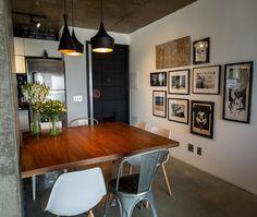 Apartamento pequeno com decoração industrial